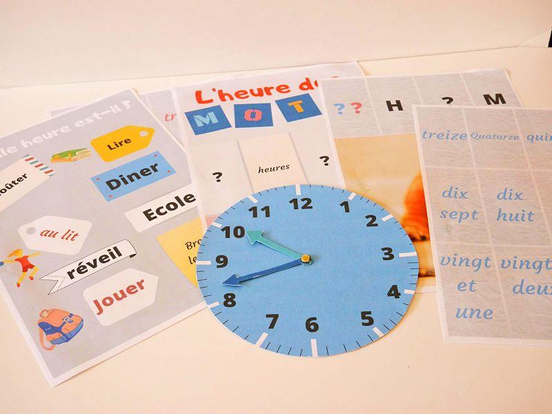 Kit d'horloge pour apprendre l'heure